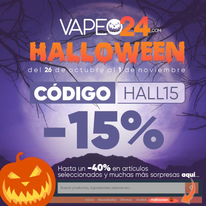 Ofertas Halloween de Vapeo