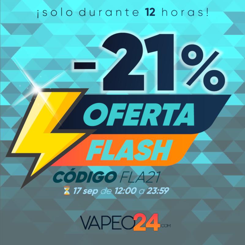 Nueva oferta flash del -21% en Vapeo24... ¡solo durante 12h!