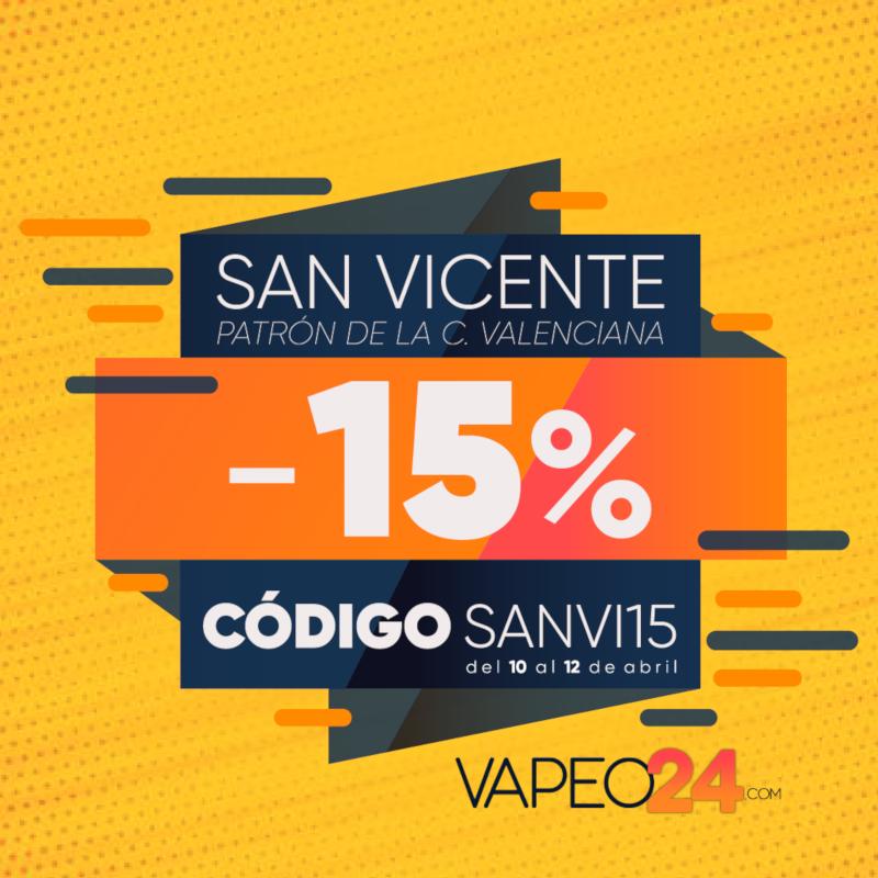 ¡Aprovecha nuestro -15% por la festividad local de San Vicente Ferrer!