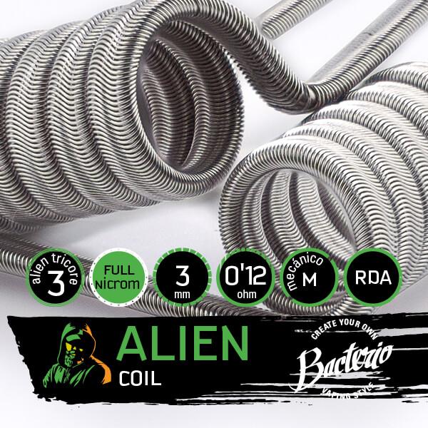 Bacterio Coils - Alien Full Ni80 (Resistencias Artesanales)