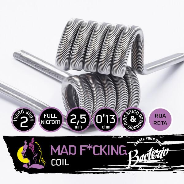 Bacterio Coils - Mad F*cking Full Ni80 (Resistencias Artesanales)