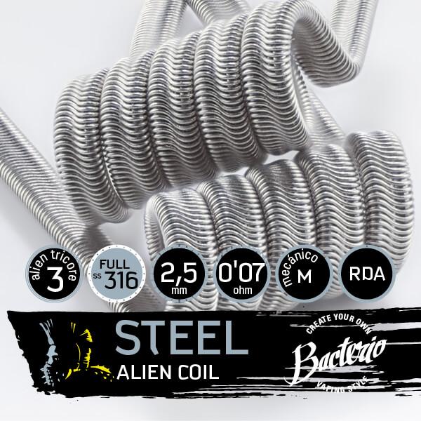 Bacterio Coils - Steel Alien Coil SS316/Ni80 (Resistencias Artesanales)