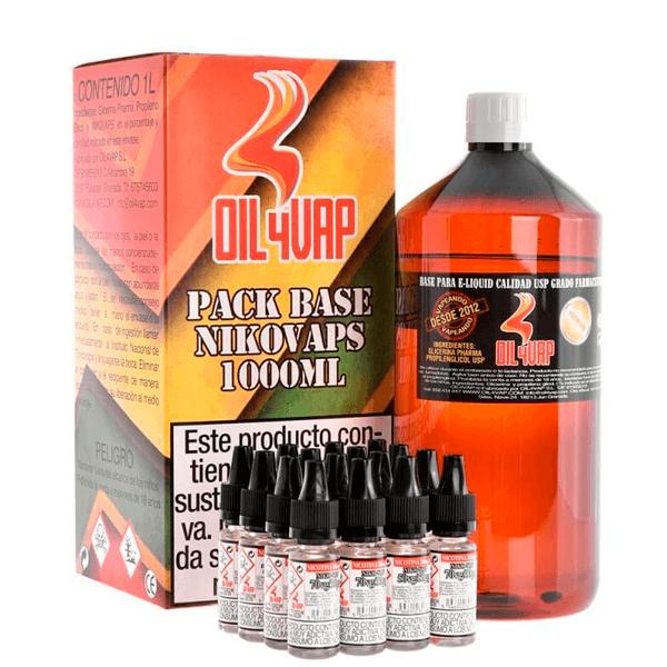 Oil4Vap Pack Base + Nicovaps (1 Litro)