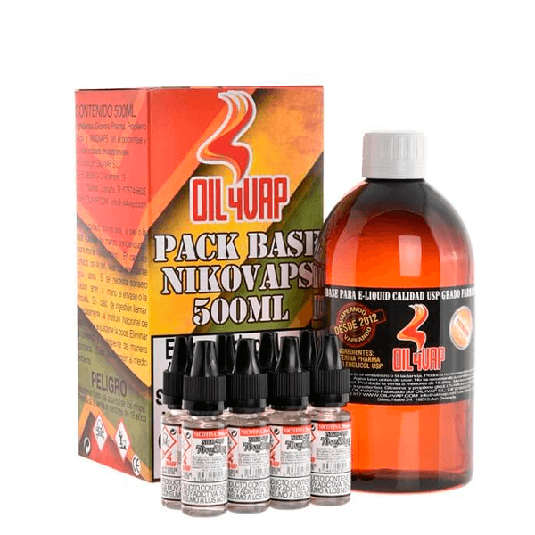 Oil4Vap Pack Base + Nicovaps (500ml)