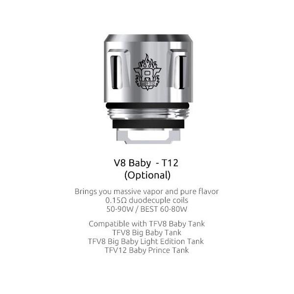 Resistencias Smok V8 Baby T12 Coil